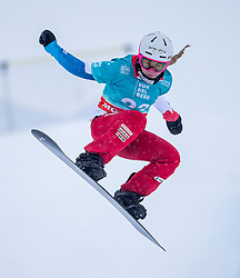 16.12.2012, Montafon Seebliga, Schruns, AUT, FIS Snowboard Cross Weltcup, Trainig, Damen, im Bild Lara Casanovo (SUI) // Lara Casanova of Switzerland in action during lady's trainig round of the at the Montafon Seebliga course, Schruns, Austria on 2017/12/16. EXPA Pictures © 2012, PhotoCredit: EXPA/ Peter Rinderer