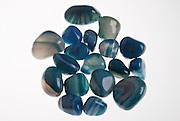 Assortment of blue agate Gemstones