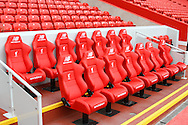 General view of the home team dugout seats at Anfield. Premier League match, Liverpool v Hull City at the Anfield stadium in Liverpool, Merseyside on Saturday 24th September 2016.<br /> pic by Chris Stading, Andrew Orchard sports photography.