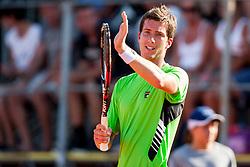 Aljaz Bedene (SLO) during a tennis match against the Boy Westerhof (NED) in 1st round of singles at 24 ATP Vegeta Croatia Umag 2013, on July 23, 2013, in Umag, Croatia. (Photo by Urban Urbanc / Sportida)