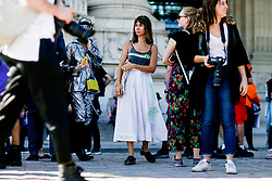 Street style, Natasha Goldenberg arriving at Paco Rabanne spring summer 2019 ready-to-wear show, held at Grand Palais, in Paris, France, on September 27th, 2018. Photo by Marie-Paola Bertrand-Hillion/ABACAPRESS.COM