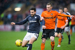 Dundee's Kostadin Gadzhalov and Dundee United's Billy McKay. <br /> Dundee 2 v 1  Dundee United, SPFL Ladbrokes Premiership game played 2/1/2016 at Dens Park.