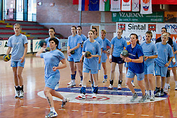 Maja Breznik at practice of Slovenian Handball Women National Team, on June 3, 2009, in Arena Kodeljevo, Ljubljana, Slovenia. (Photo by Vid Ponikvar / Sportida)