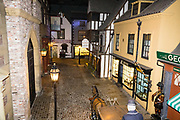 """Victorian reconstruction of Kirkgate street. York Castle Museum was founded in 1938 by Dr John Kirk, a doctor from Pickering, North Yorkshire. The museum houses Kirk's extraordinary collection of social history, reflecting everyday life in the county. The York Castle Museum is housed in a former debtors' prison (built in 1701–05 using stone from castle ruins) and in an adjoining former women's prison (built 1780–85) in North Yorkshire, England. Originally built by William the Conqueror in 1068, York Castle features a ruined keep now called """"Clifford's Tower."""""""