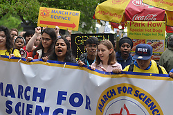 May 4, 2019 - New York, NY, United States - Protesters seen holding a banner during the March..Hundreds of people seen marching in front of City Hall during the Annual Science March to encourage American Government to take action to save the world. (Credit Image: © Ryan Rahman/SOPA Images via ZUMA Wire)