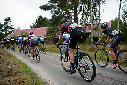 Mieke Kroeger approaches the end of the first gravel sector at the Crescent Vargarda - a 152 km road race, starting and finishing in Vargarda on August 13, 2017, in Vastra Gotaland, Sweden. (Photo by Sean Robinson/Velofocus.com)
