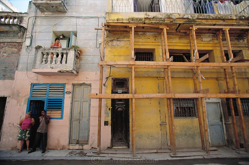 Crumbling (and slowly renovating) Old Havana, Cuba.