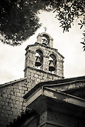 The bell tower at St Stephen Church, Zaton, Dalmatian Coast, Croatia
