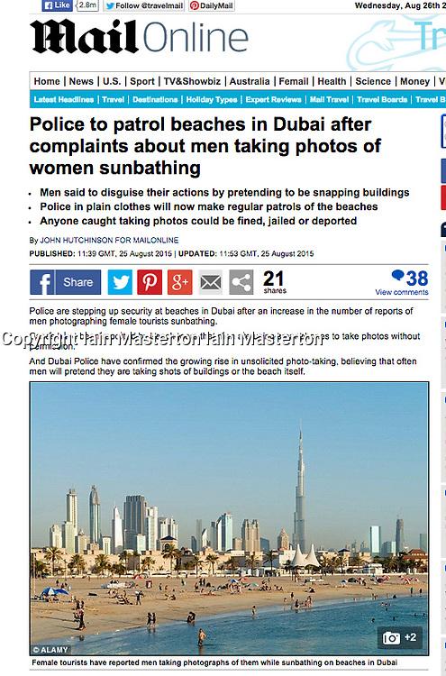 Mail Online website; Skyline of Dubai