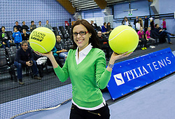Lea Stumberger at Tennis exhibition day and Slovenian Tennis personality of the year 2013 annual awards presented by Slovene Tennis Association TZS, on December 21, 2013 in BTC City, TC Millenium, Ljubljana, Slovenia.  Photo by Vid Ponikvar / Sportida