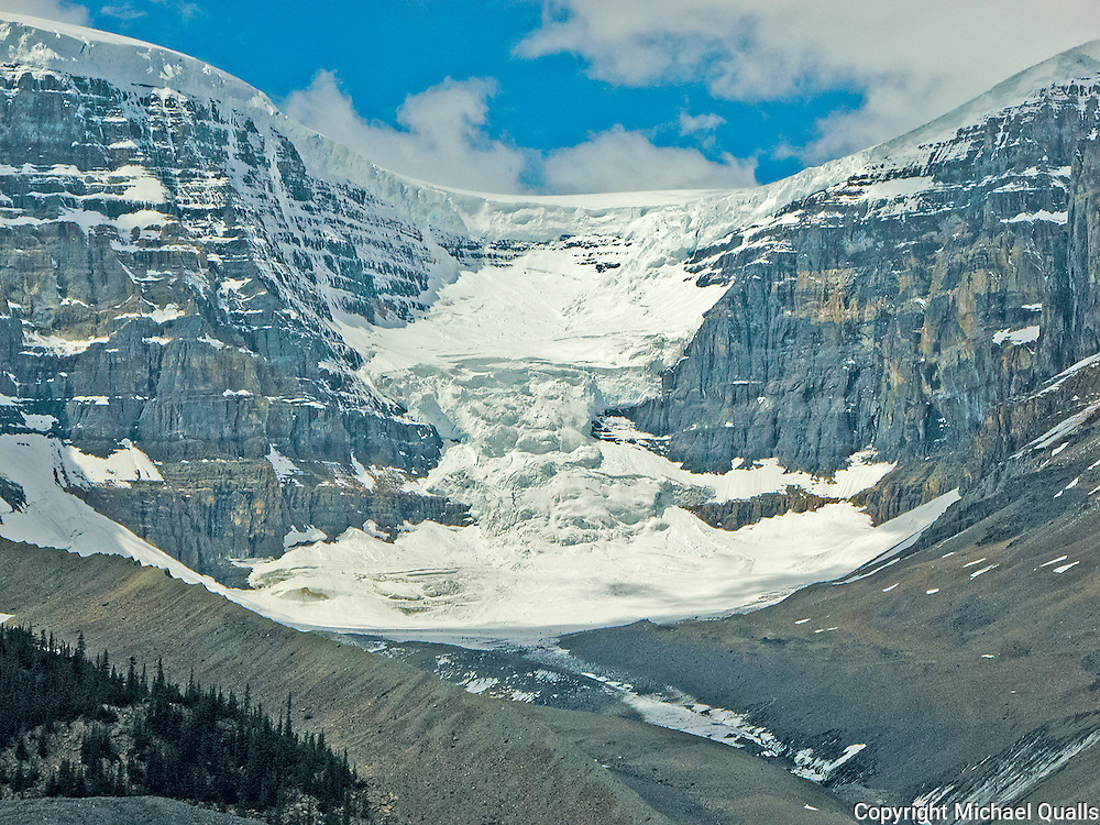 Dome Glacier as seen from the Icefields Centre