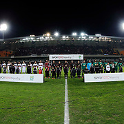 Besiktas's and Akhisar Belediyespor's players during their Turkish Super League soccer match Istanbul Besiktas between Akhisar Belediyespor at the Basaksehir Fatih Terim Arena at Basaksehir in Istanbul Turkey on Sunday, 21 December 2014. Photo by Aykut AKICI/TURKPIX
