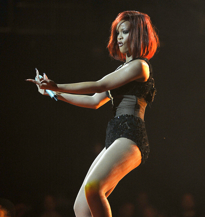 The BRIT Awards 2011, held At The O2 , London, pictured Rihanna . pic Dave Nelson .