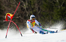 BLARDONE Massimiliano of Italy competes during 1st Run of 8th Men's Giant Slalom - Pokal Vitranc 2012 of FIS Alpine Ski World Cup 2011/2012, on March 10, 2012 in Vitranc, Kranjska Gora, Slovenia.  (Photo By Vid Ponikvar / Sportida.com)