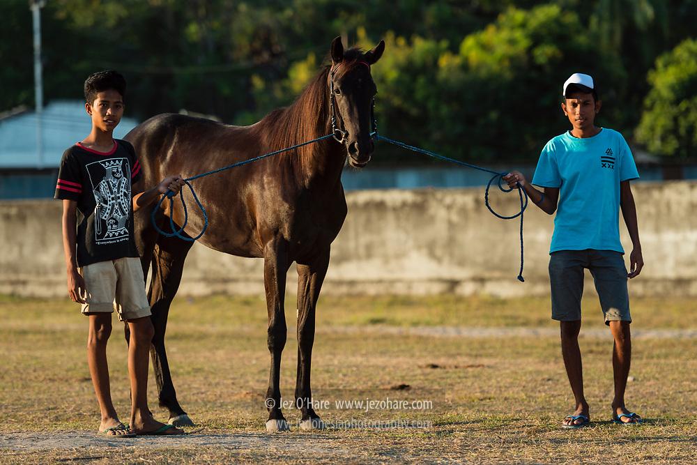 Pacuan Kuda Rihi Eti, Waingapu, Sumba Timur, Nusa Tenggara Timur, Indonesia.