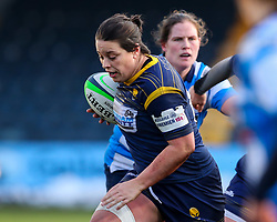 Sioned Harries, captain of Worcester Warriors Warriors races through to score a try - Mandatory by-line: Nick Browning/JMP - 09/01/2021 - RUGBY - Sixways Stadium - Worcester, England - Worcester Warriors Women v DMP Durham Sharks - Allianz Premier 15s