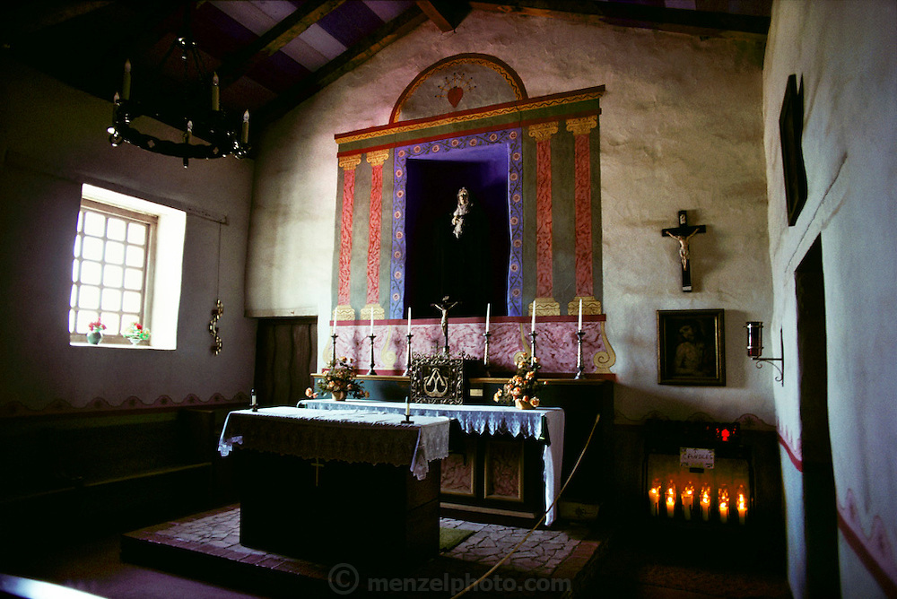 Altar inside the main chapel of the Soledad Mission, Soledad, California, USA.