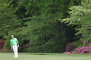 Bryson DeChambeau (USA) on the 13th during the 1st round at the The Masters , Augusta National, Augusta, Georgia, USA. 11/04/2019.<br /> Picture Fran Caffrey / Golffile.ie<br /> <br /> All photo usage must carry mandatory copyright credit (© Golffile | Fran Caffrey)