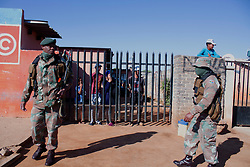 May 5, 2020, Johannesburg, Gauteng, South Africa: Army deployed at Eldorado Park Johannesburg, South Africa on 05th May 2020 to maintain he lock down. (Credit Image: © Manash Das/ZUMA Wire)