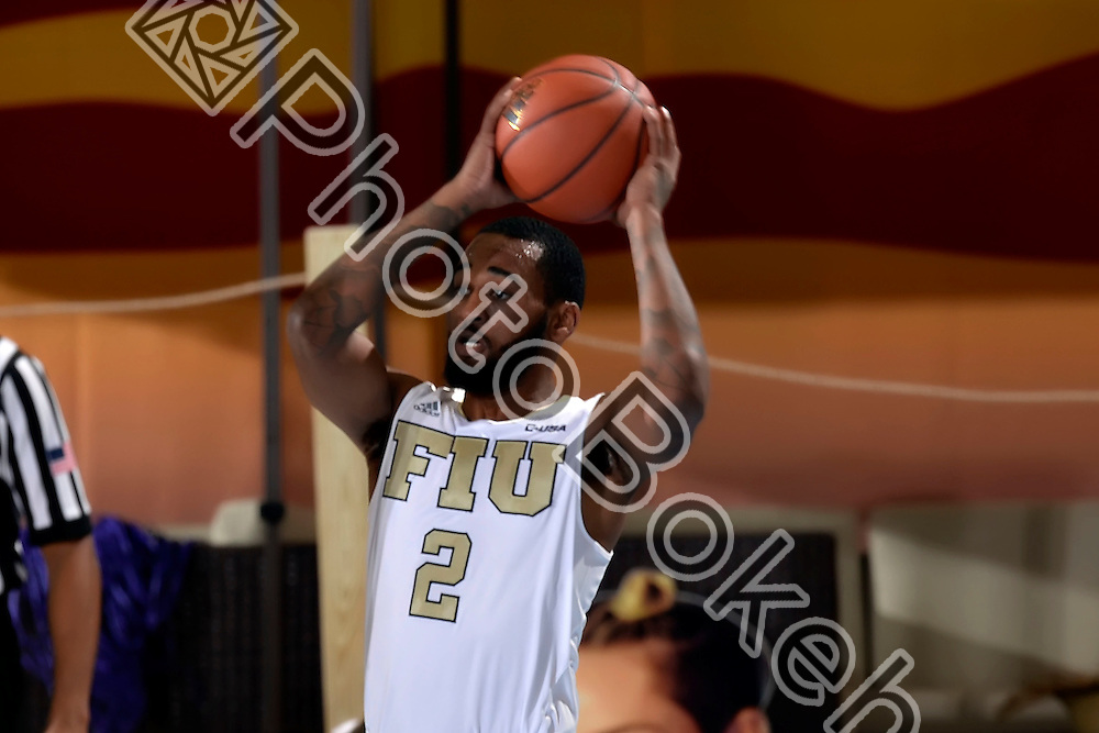 2016 January 16 - FIU's Donte McGill (2).<br /> Florida International University fell to Southern Mississippi, 60-66, at FIU Arena, Miami, Florida. (Photo by: Alex J. Hernandez / photobokeh.com) This image is copyright by PhotoBokeh.com and may not be reproduced or retransmitted without express written consent of PhotoBokeh.com. ©2016 PhotoBokeh.com - All Rights Reserved