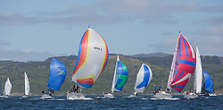 Clyde Cruising Club's Scottish Series 2019<br /> 24th-27th May, Tarbert, Loch Fyne, Scotland<br /> <br /> CYCA Classes downwind with 4040C, Lemarac, Mr. A. Boyd Tunnock, Clyde Cruising Club, Moody 38, 2336C, Shearwater, Garth and Erica Wilson, Fairlie Yacht Club, Moody 336<br /> <br /> Day  1 - Perfect Conditions<br /> <br /> Credit: Marc Turner / CCC
