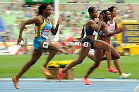 ATHLETICS - IAAF WORLD CHAMPIONSHIPS 2011 - DAEGU (KOR) - DAY 2 - 28/08/2011 - PHOTO : STEPHANE KEMPINAIRE / KMSP / DPPI - <br /> 100 M - WOMEN - CARMELITA JETER (USA)
