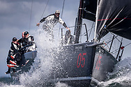 Zephyr at The Needles during the Round the Island Race. Isle of Wight.<br /> Picture date: Saturday July 2, 2016.<br /> Photograph by Christopher Ison ©<br /> 07544044177<br /> chris@christopherison.com<br /> www.christopherison.com