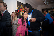 DIONNE BROMFIELD; ( POP SINGER- AMY WINEHOUSE GOD-DAUGHTER) RAYE COSBERT. Exhibition of Gerald Laing Graphics. Opening of the Morton Metropolis Gallery. Hosted by Serena Morton and Raye Cosbert.  London. 10 February 2010