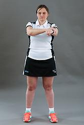 Umpire Rachael Radford signalling contact