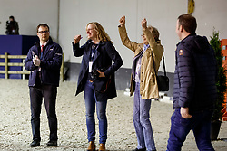 ARNS-KROGMANN Christine (Pferdebesitzer), WINTER-SCHULZE Madeleine (Pferdebesitzer), ARNS-KROGMANN Frank (Pferdebesitzer)<br /> Paris - FEI World Cup Finals 2018<br /> FEI World Cup Dressage Freestyle/Kür<br /> www.sportfotos-lafrentz.de/Stefan Lafrentz<br /> 14. April 2018