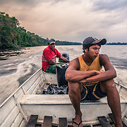 Navigation along the Rio Negro, near the triple border between Brazil, Colombia and Venezuela