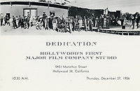 1956 Invitation to the dedication of the DeMille/Lasky barn at Paramount Studios
