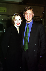 Ballerina DARCEY BUSSELL and her husband MR ANGUS FORBES, at a reception in London on 2nd February 2000.OAP 46