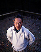 Nobuyuki Idei, president of Sony at his country home in Japan.