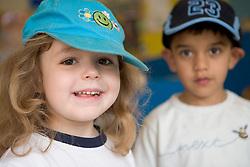Two friends at Nursery School,
