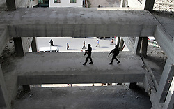 October 21, 2016 - Gaza, Gaza Strip, Palestinian Territory - Palestinian Islamic Jihad militants stand guard on a roof during a rally marking the 29th anniversary of the movement foundation in Gaza City October 21, 2016  (Credit Image: © Abed Rahim Khatib/APA Images via ZUMA Wire)