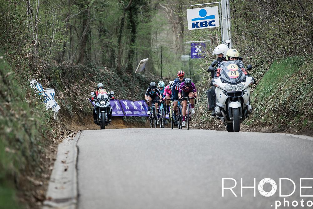 Demi Vollering (NED/SD Worx) leading the front group upt Hagaard climb<br /> <br /> Women's Elite Brabantse Pijl 2021 <br /> 1 Day Race: Lennik - Overijse 127km<br /> <br /> ©Rhode.Photo