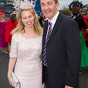 08.10.17.            <br /> Pictured at Limerick Racecourse for the  Keanes Most Stylish Lady competition were, Joanne Callinan and John Weldon. Picture: Alan Place