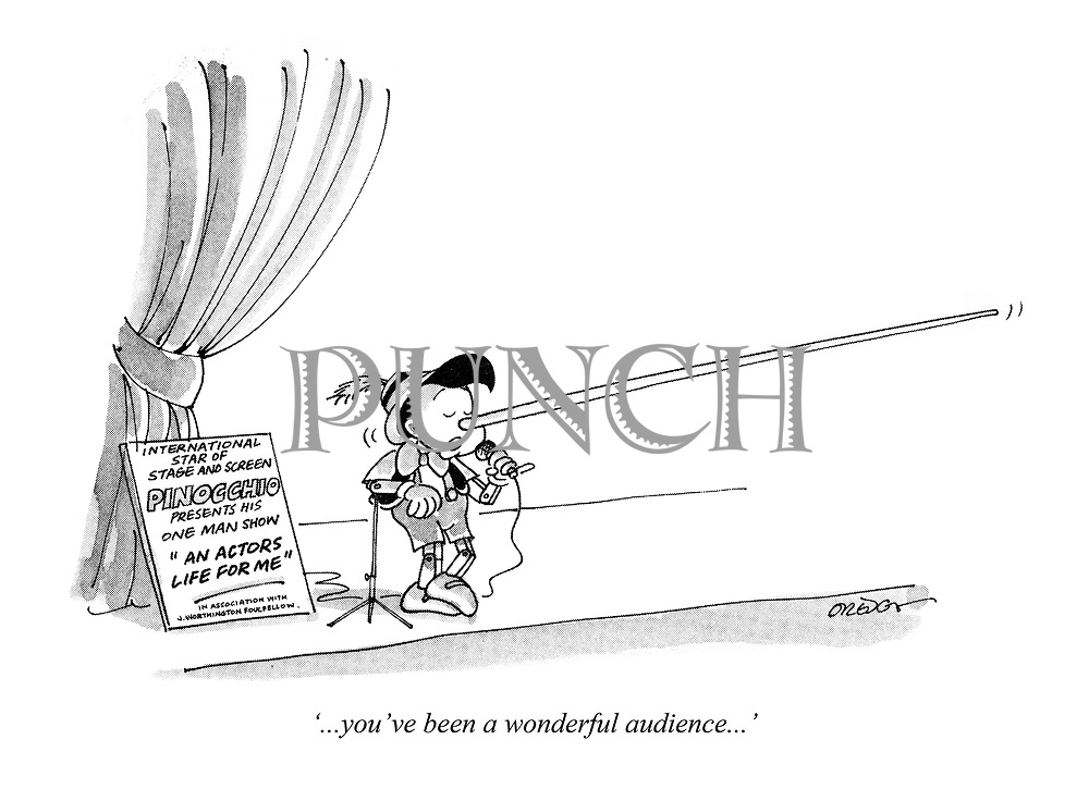 '...you've been a wonderful audience...'