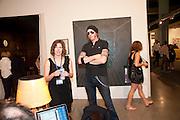 SOPHIE PRAGER; PHILIP ZAISER, Opening of Art Basel Miami Beach. Convention Centre.  Miami Beach. 30 November 2010. -DO NOT ARCHIVE-© Copyright Photograph by Dafydd Jones. 248 Clapham Rd. London SW9 0PZ. Tel 0207 820 0771. www.dafjones.com.