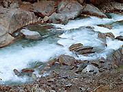 The Mo Chhu (Mother River) running along the Punakha valley in Jigme Dorji National Park, Western Bhutan.