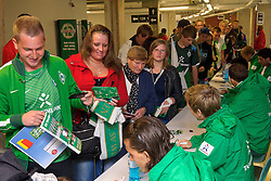 24.07.2011, Weser Stadion, Bremen, GER, 1.FBL, Werder Bremen Tag der Fans 2011, im Bild Autogrammstunde mit den Werder Stars im Ostkurvensaal   // during the day of fans on 2011/07/24, Weserstadion, Bremen, Germany    EXPA Pictures © 2011, PhotoCredit: EXPA/ nph/  Kokenge       ****** out of GER / CRO  / BEL ******