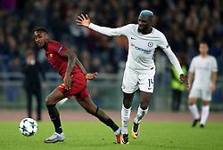 Roma's da Silva Gerson and Chelsea's Tiemoue Bakayoko battle for the ball