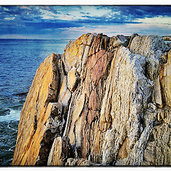 "The rock ledges at Wallis Sands State Park in Rye, New Hampshire. iPhone photo - suitable for print reproduction up to 8"" x 12""."