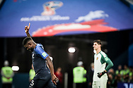 Samuel Umtiti of France celebrates after his goal during the 2018 FIFA World Cup Russia, Semi Final football match between France and Belgium on July 10, 2018 at Saint Petersburg Stadium in Saint Petersburg, Russia - Photo Thiago Bernardes / FramePhoto / ProSportsImages / DPPI