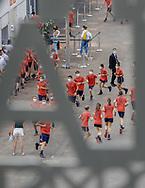 Illustration ball boys an Ball girls at warm-up during the Roland-Garros 2021, Grand Slam tennis tournament on June 6, 2021 at Roland-Garros stadium in Paris, France - Photo Nicol Knightman / ProSportsImages / DPPI