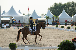 Vanommeslaghe Laurence (BEL) - Avec Plaisir<br /> Belgisch Kampioenschap dressuur <br /> Hulsterlo - Meerdonk  2014<br /> © Dirk Caremans