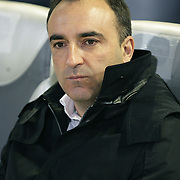Besiktas's coach Carlos Carvalhal during their UEFA Europa League Group Stage Group E soccer match Maccabi Tel Aviv between Besiktas at Bloomfield stadium in Tel Aviv Israel on Thursday December 01, 2011. Photo by TURKPIX