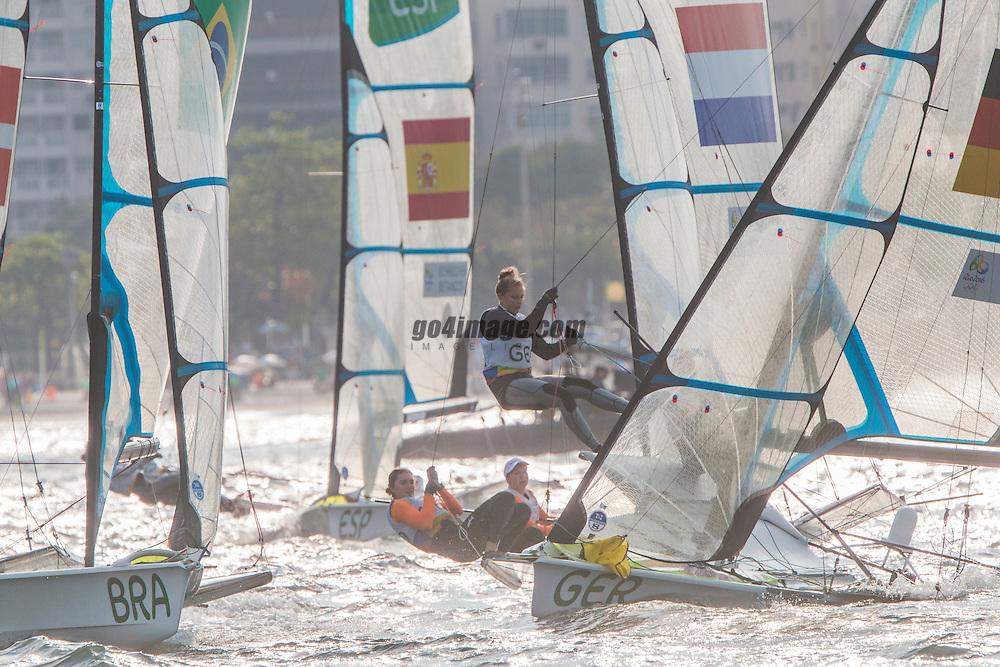 49er FX GER Viktoria Jurzok GERVJ1 Anika Lorenz GERAL5<br /> <br /> 2016 Olympic Games <br /> Rio de Janeiro