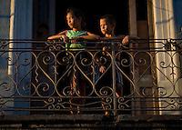cuban children portrait during golden hour